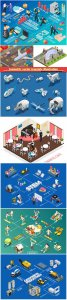 Isometric vector template illustration # 26