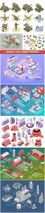Isometric vector template illustration # 23