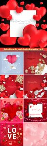 Valentines day party invitation vector card # 33