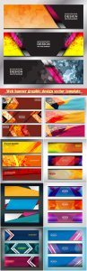 Web banner graphic design vector template