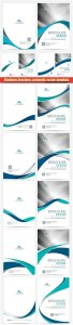 Business brochure corporate vector template, magazine flyer mockup # 26