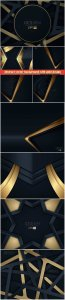 Abstract vector background with gold design