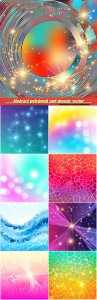 Abstract polygonal and mosaic vector background