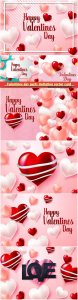 Valentines day party invitation vector card # 35